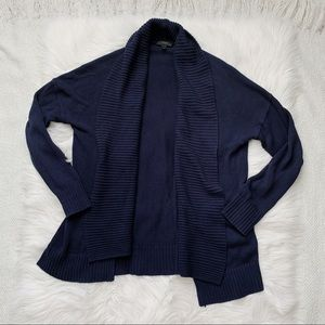 J. Crew Navy Blue Oversized Cardigan